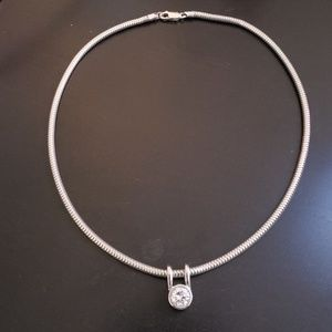 Lord & Taylor Silver and Cubic Zirconia necklace